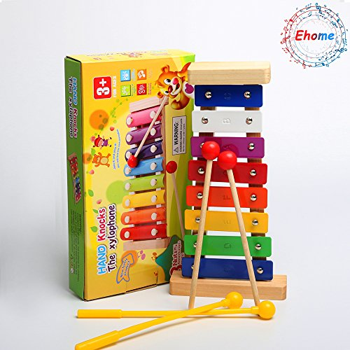 Ehome Xylophone for Kids, Musical Toy for Toddlers – With Clear Sounding Keys, Four Child-Safe Wooden Mallets for Kids – Making Fun