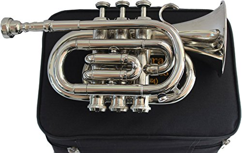 TRUMPET POCKET Bb NICKEL PLATED WITH BAG 7C MOUTH PIECE