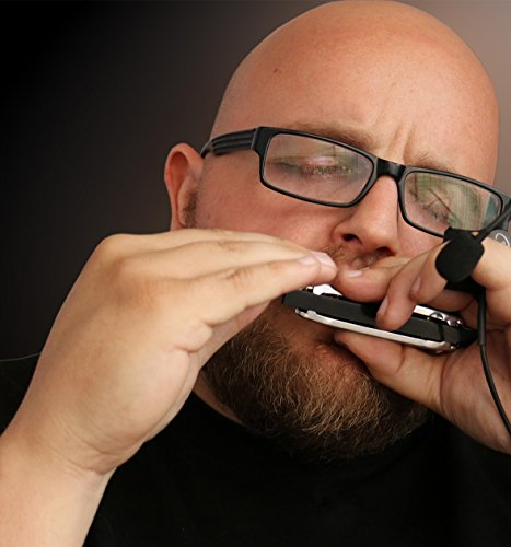 """THE FEATHER SOUL"" HARMONICA MIC (HANDS FREE) with FLEXIBLE MICRO-GOOSE NECK by Myers Pickups ~ See it in ACTION! Copy and paste: myerspickups.com"