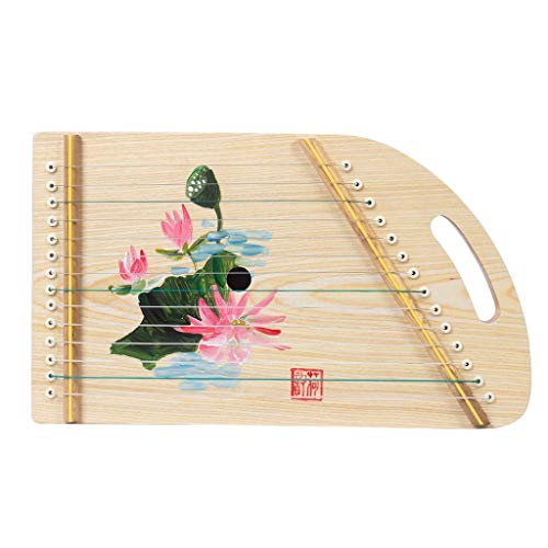 GuanXiao Guzheng Beginner Mini Zither Practice Piano Portable Adult Beginner Piano Children Stringed Instrument (Color : E)