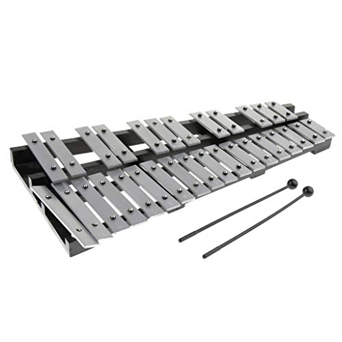 Baosity 30 Notes Aluminum Glockenspiel Xylophone Musical Percussion Bell