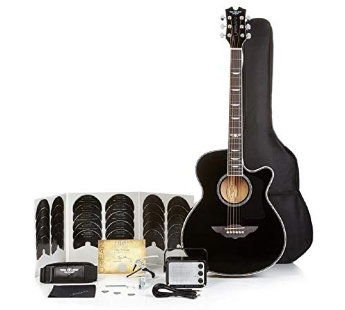 Keith Urban Acoustic Electric Guitar On Tour 40-pc Guitar Pkg, Rich Black, Right