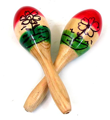 Kids Mexican Maracas Pair 3 Colors