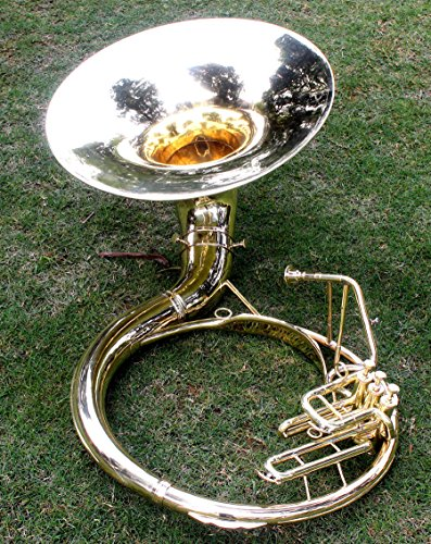 Sousaphone Brass Metal 20″ Bb SAI MUSICAL 3 VALVE WITH BAG MOUTH PIECE SHIP FAST
