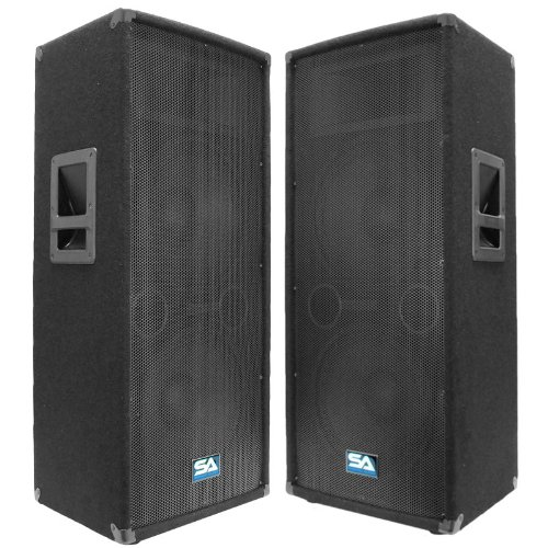 Seismic Audio – Pair of Dual 12″ PA DJ SPEAKERS 1200 Watts PRO AUDIO – Band, Bar, Wedding, Church
