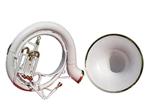 "Queen Brass Sousaphone Tuba 25"" Bell_Bb Pitch W/Bag & Mp White"