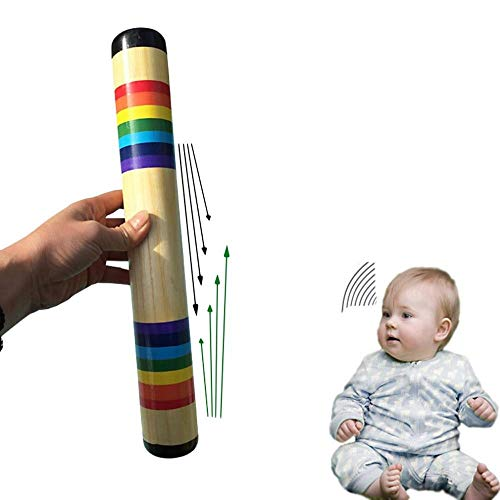 Rainmaker shaker Solid Wood Colorful Sand Sound Maker Hand Shaking Toys Musical Early Education Instrument Popular for kids Musical instruments for children, kids wooden, brass, guitar – B378
