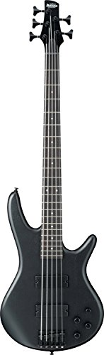 Ibanez 5 String Bass Guitar, Right Handed, Weathered Black (GSR205BWK)