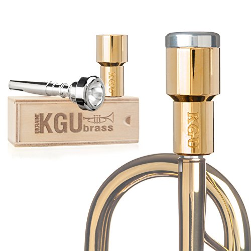 Trumpet Mouthpiece Booster- KGUBrass Custom Booster. Limited Edition (Custom Rocket, Gold Plated 24K)