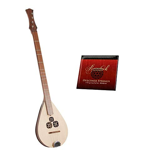 Wildwood Dulcimer Package Includes: Wildwood Dulcimer – Rosewood + Roosebeck Dulcinet 4 String Replacement Strings Set