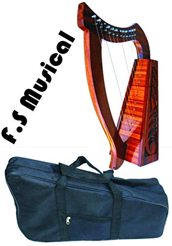 CELTIC 12 STRINGS LAP Harp 24″ + Free Bag