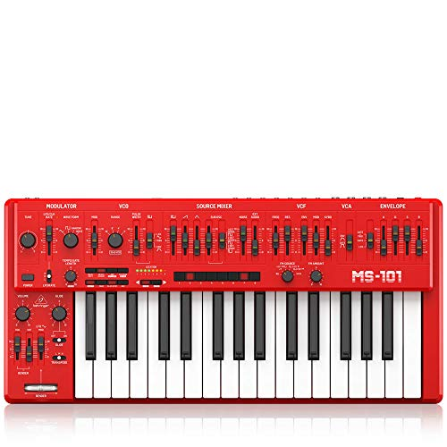 Behringer Synthesizer Software, Red (MS-101-RD)