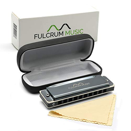 Fulcrum Music Harmonica with Case | Key of C | Premium Quality, Modern, Metal