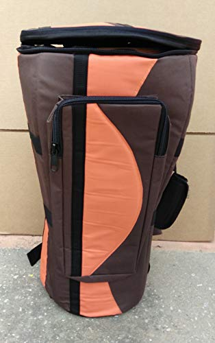LARGE 24″x14″ ORANGE Djembe Drum Bag Case, Double Layer, Water Proof