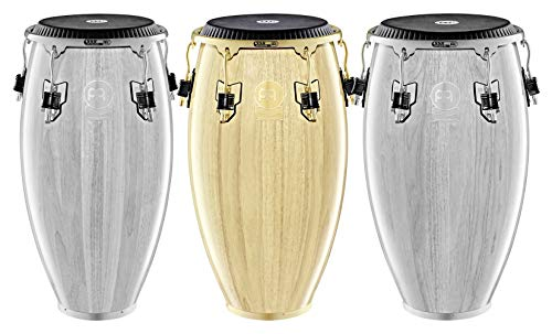 "Meinl Percussion Conga with Hardwood Shell, Artist Series""Kachiro"" Thompson – NOT MADE IN CHINA – Natural Finish, 11 3/4″ REMO Black Fiberskyn Head and SSR Rim, 2-YEAR WARRANTY WKTR1134NT"