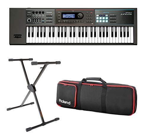 Full Compass Exclusive JUNO-DS61-K – 61-Key Synthesizer with Single Brace Keyboard Stand and Bag