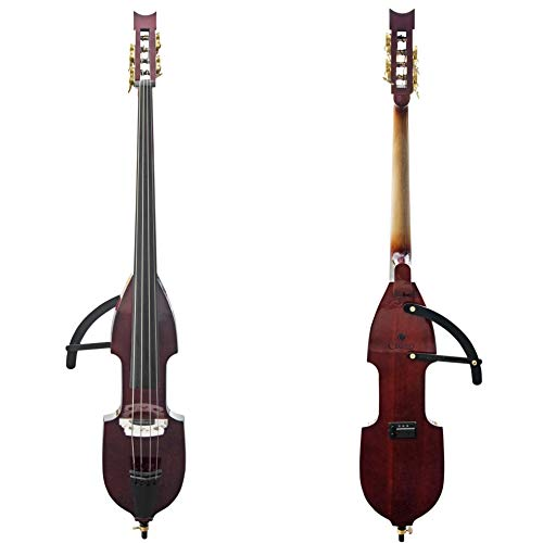 Cecilio Silent Electric Upright Double Bass, Mahogany Metallic
