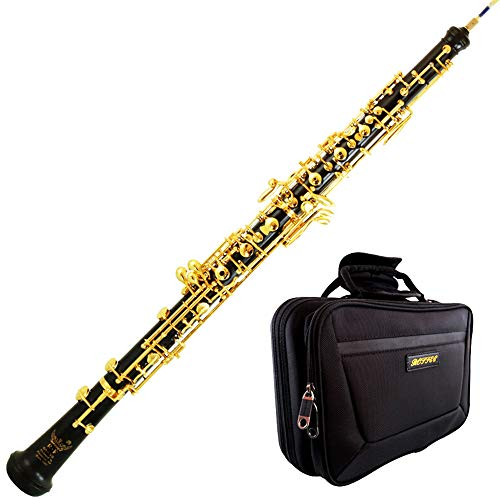 Roffee Professional Performance Level Ebony body Semi Automatic Gold Plated Oboe